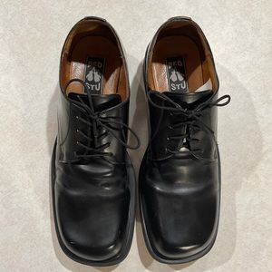 Bed Stu Mens Leather Oxford Lace Up Shoe Black 12